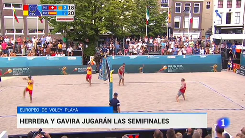Herrera y Gavira jugarán las semifinales del Europeo de voley playa