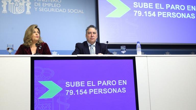 """Hidalgo achaca a factores """"estacionales"""" el aumento del paro y Burgos valora que """"siga la tónica positiva"""" en la afiliación"""