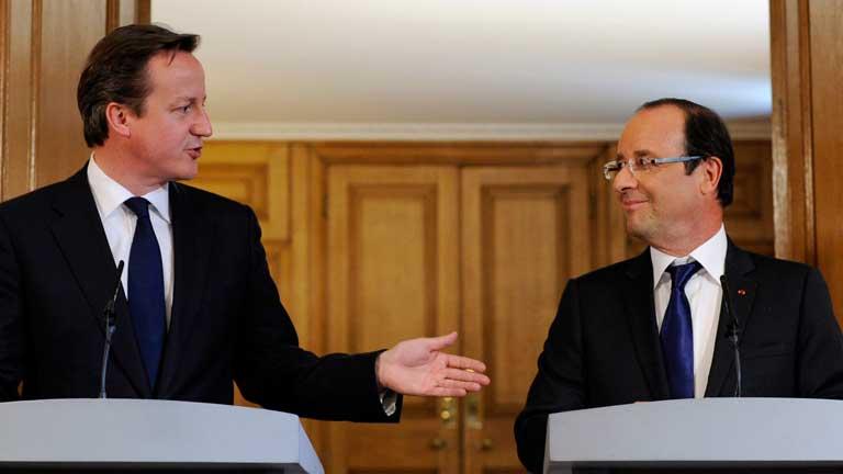 Sintonía por Europa entre Hollande y Cameron pese a las fuertes discrepancias