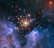 La nebulosa NGC 3603, en la constelación de Carina