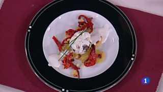 Cocina con Sergio - Huevos escalfados con morcilla