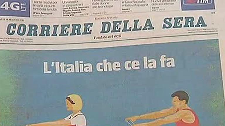 `Il Corriere della Sera' reparte un suplemento gratuito en el que sólo publican buenas noticias