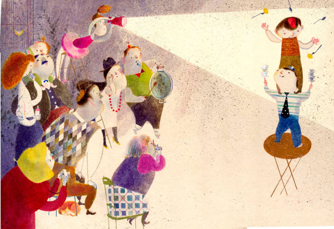 Ilustración de 'Una familia impar'