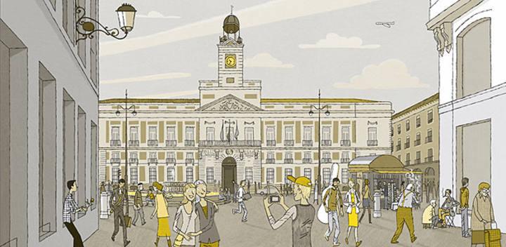 El ilustrador juan berrio nos ofrece la cara m s c lida de for Puerta de sol en directo