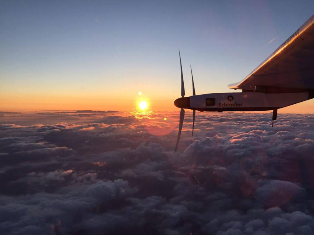 Imagen del avión después de despegar del aeropuerto de Nagoya (Japón), el pasado 29 de junio.