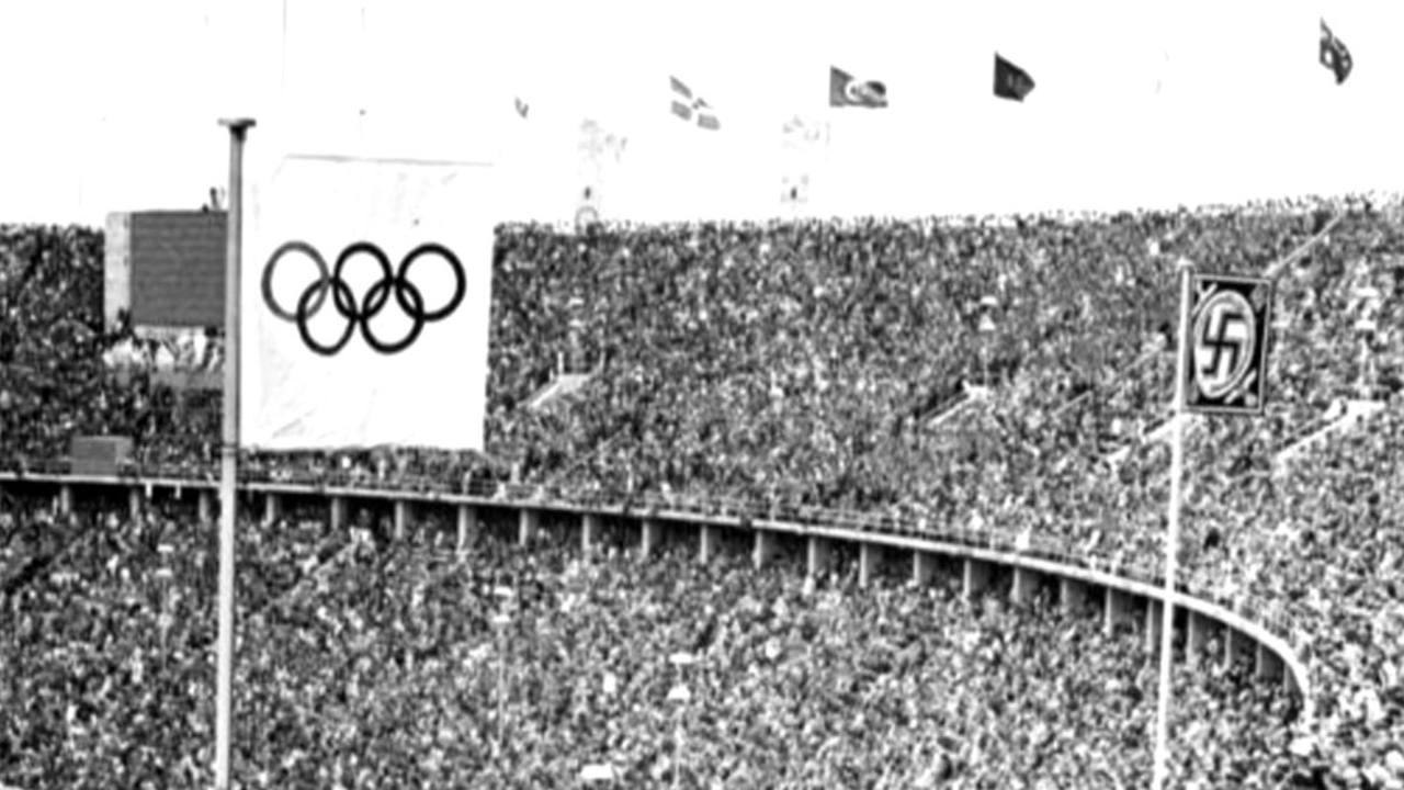 Inauguración en Berlín de las olimpíadas de 1936