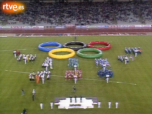Inauguración del Estadio de Montjuic