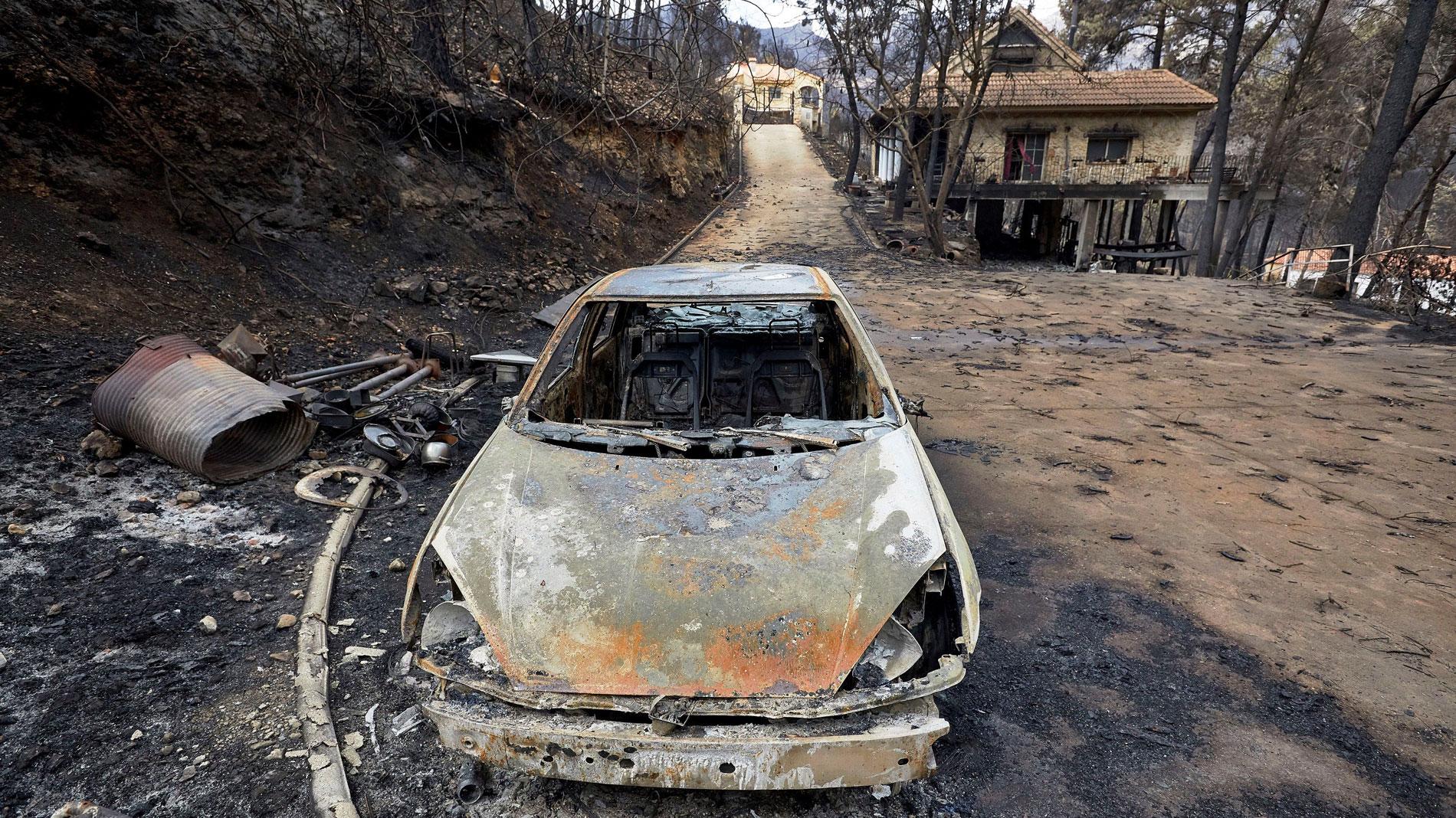 El incendio de Llutxent ya está controlado y los vecinos continúan regresando a sus casas