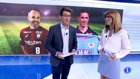 Iniesta y Torres debutan en Japón