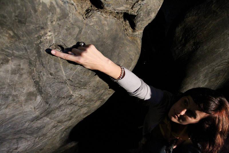 Interior del yacimiento paleolítico de la Cueva de Ardales en Málaga