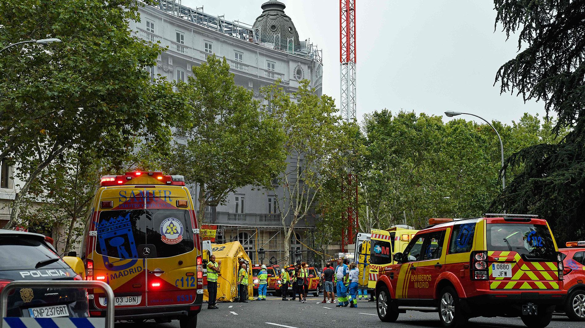 Investigan las causas del derrumbe en el hotel Ritz de Madrid que mató a un trabajador