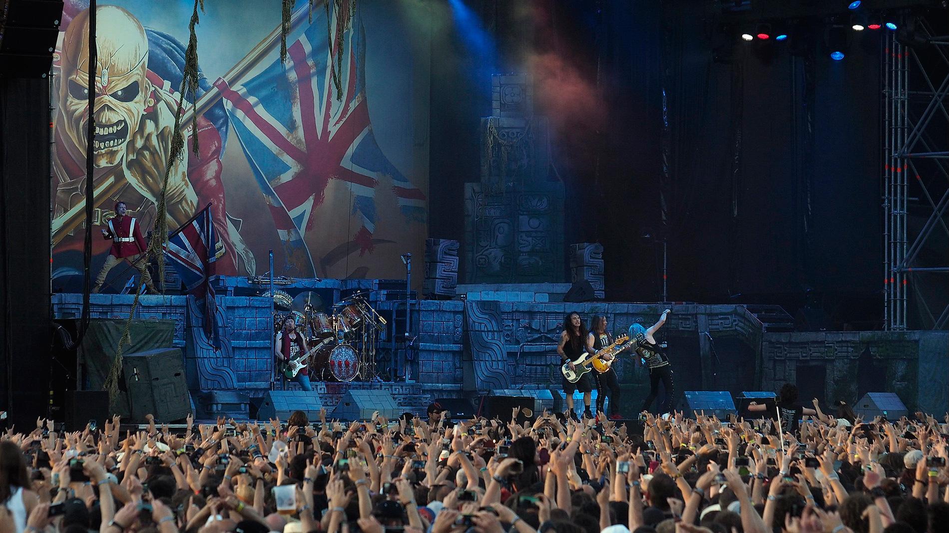 Iron Maiden ofrece un concierto único en el estadio Wanda Metropolitano