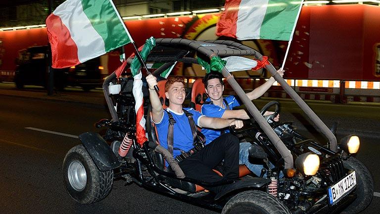 Italia celebra el pase a la final de la Eurocopa