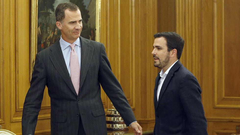 IU, UPN, Nueva Canarias, CC y Foro Asturias trasladan al rey la urgencia de desbloquear la situación