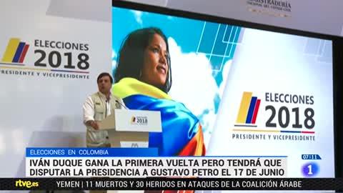 Iván Duque y Gustavo Petro optarán a la Presidencia de Colombia en la segunda vuelta