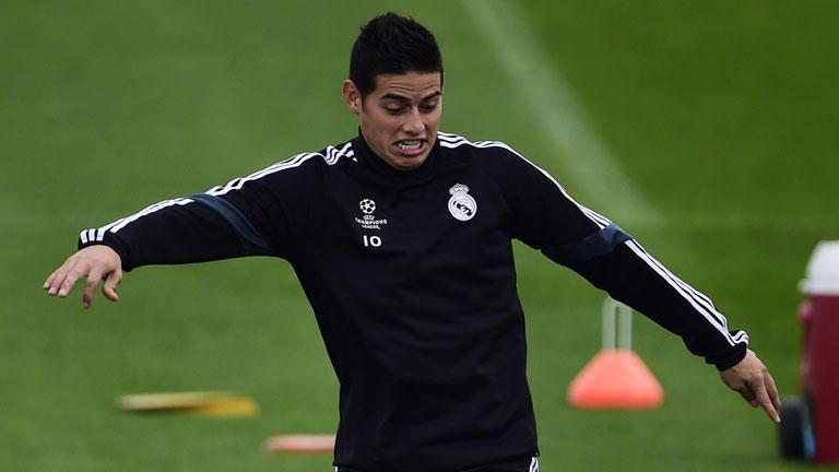 """James juega """"más cómodo"""" con Colombia que con el Madrid"""