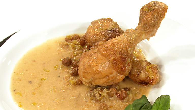 C mo preparar jamoncitos de pollo al vino espumoso con for Cocinar judias negras