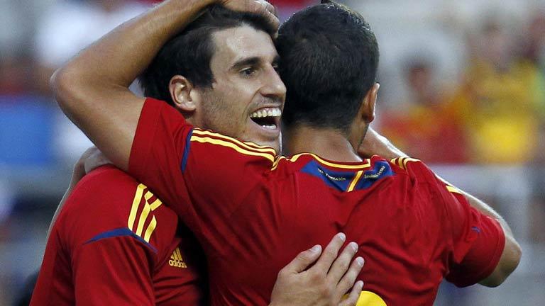 Javi Martínez abre el marcador (1-0)