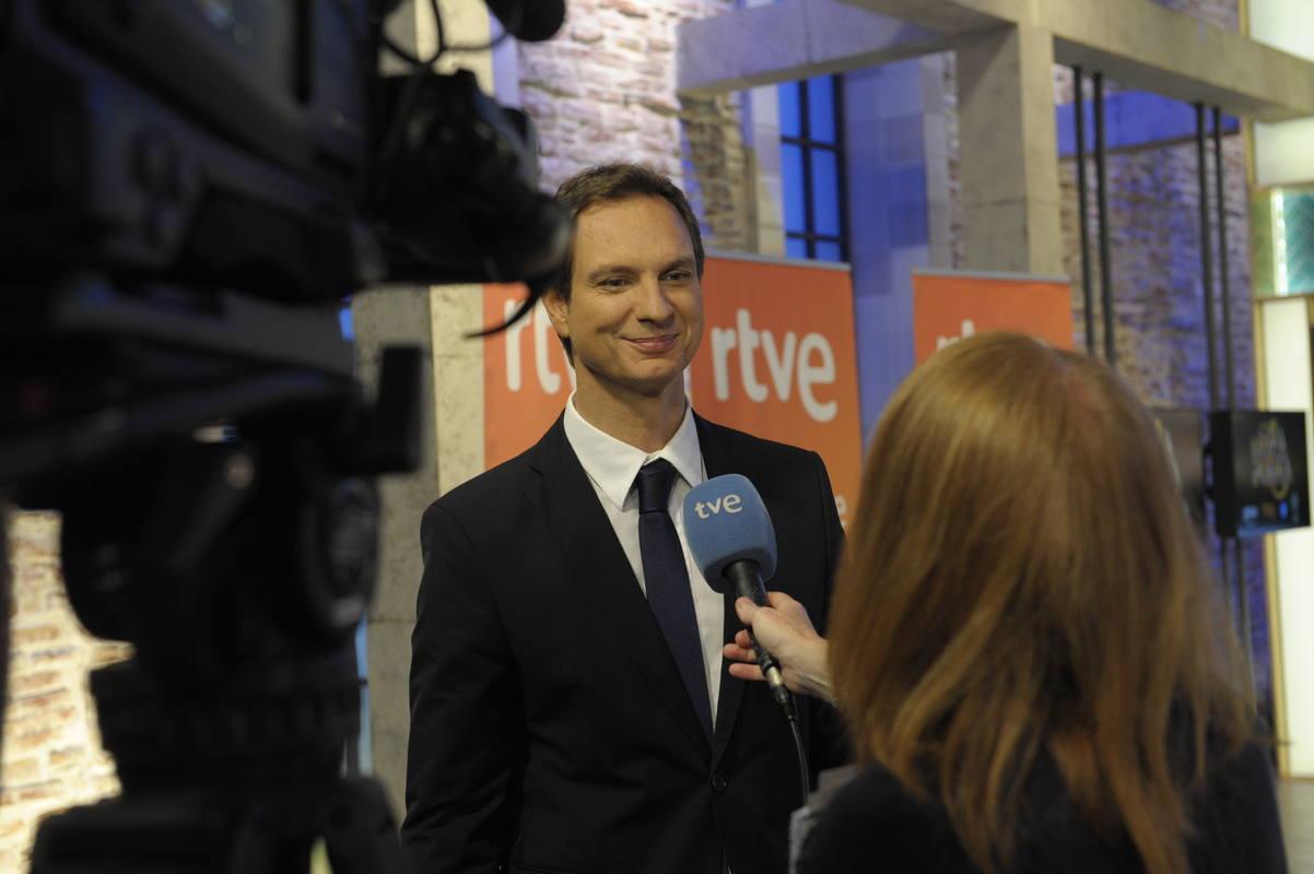 Javier Cárdenas, el presentador de 'Hora Punta', en una entrevista para el Telediario