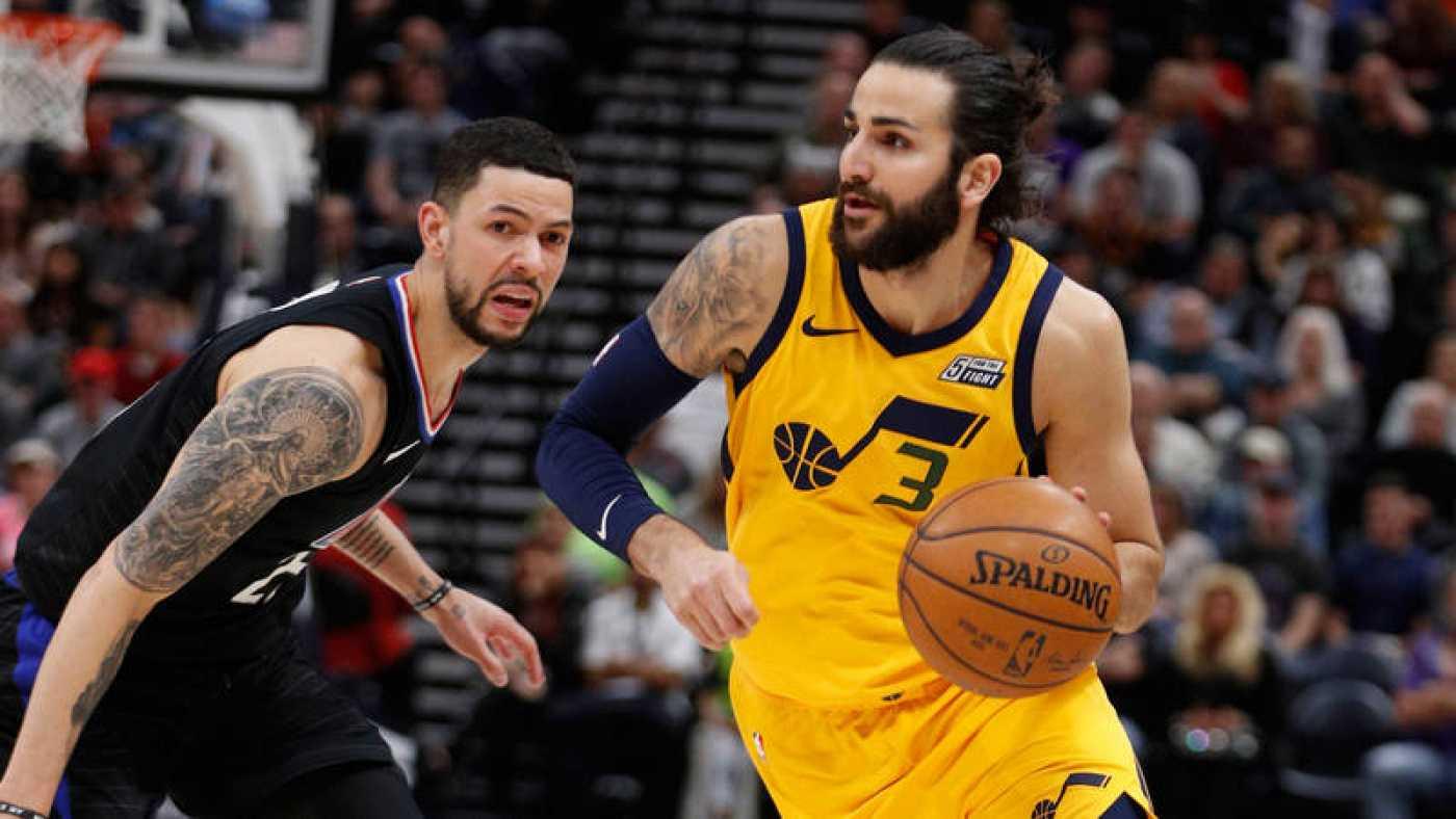 Los Jazz aplastan a los Clippers con susto de Ricky Rubio