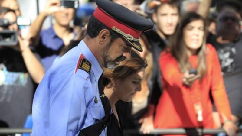 El jefe de los Mossos, Josep Lluís Trapero, sale de la Audiencia Nacional.