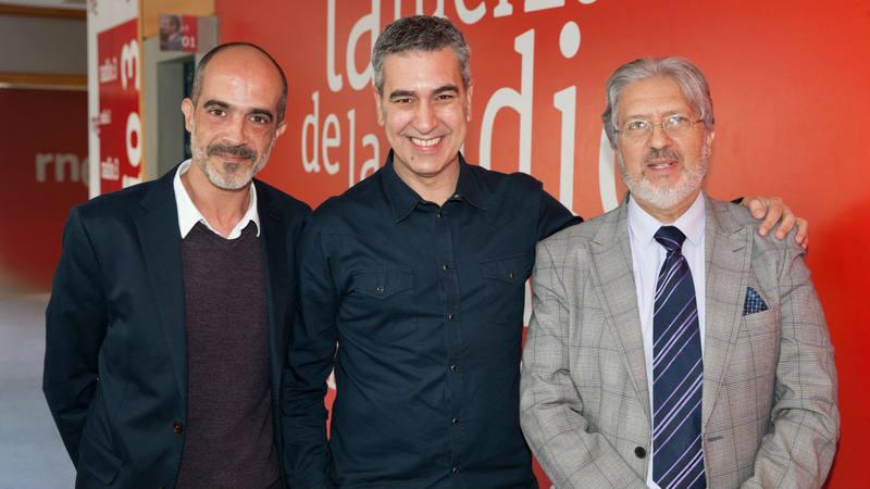José Heredia, Arturo Martín y Diego Fernández, en Rne Madrid