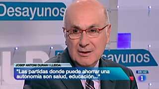Los desayunos de TVE - Josep Antoni Duran i Lleida, portavoz de CiU en el Congreso de los Diputados