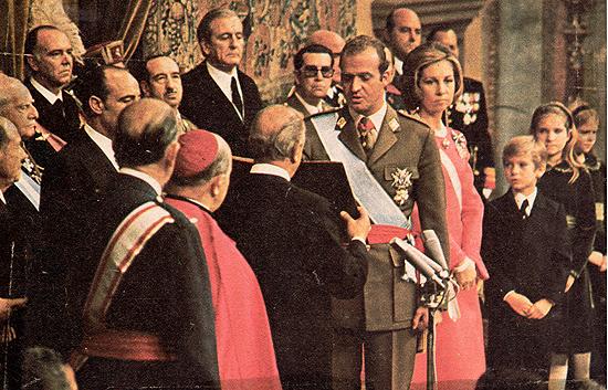 El juramento de Juan Carlos I como rey de España