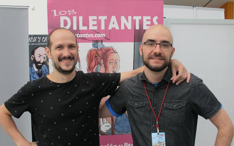 Juan Ros y Óscar Sanz en el Salón del Cómic de Jaca