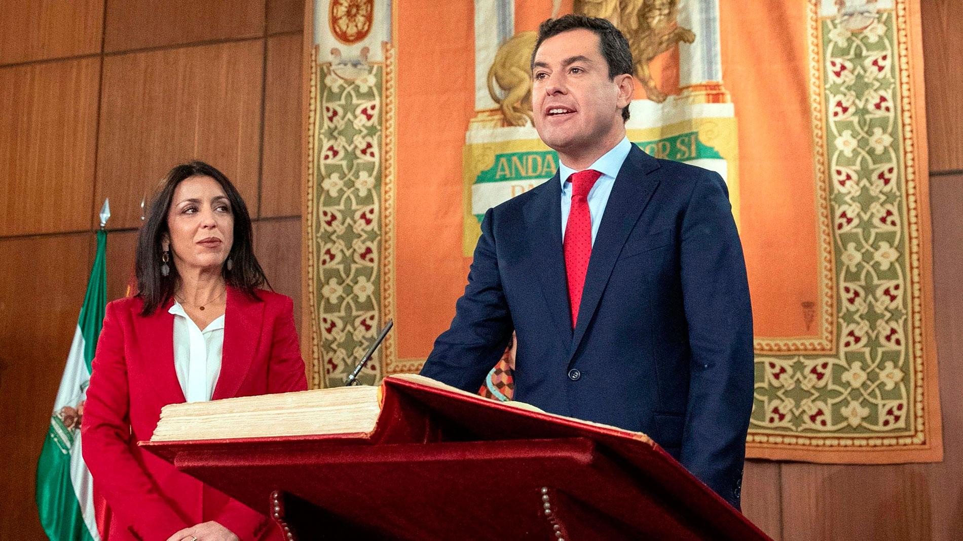 Juanma Moreno toma posesión como presidente de la Junta de Andalucía