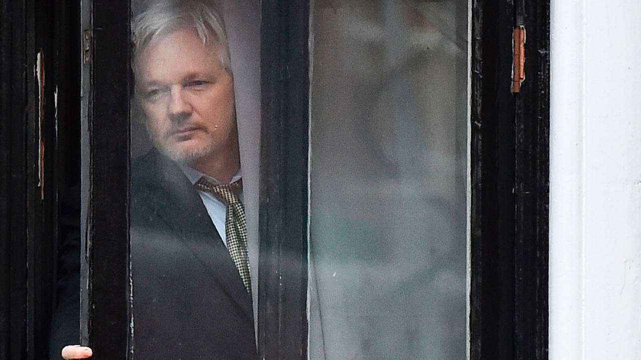 Julian Assange en la embajada de Ecuador en Londres en una imagen de febrero de 2016
