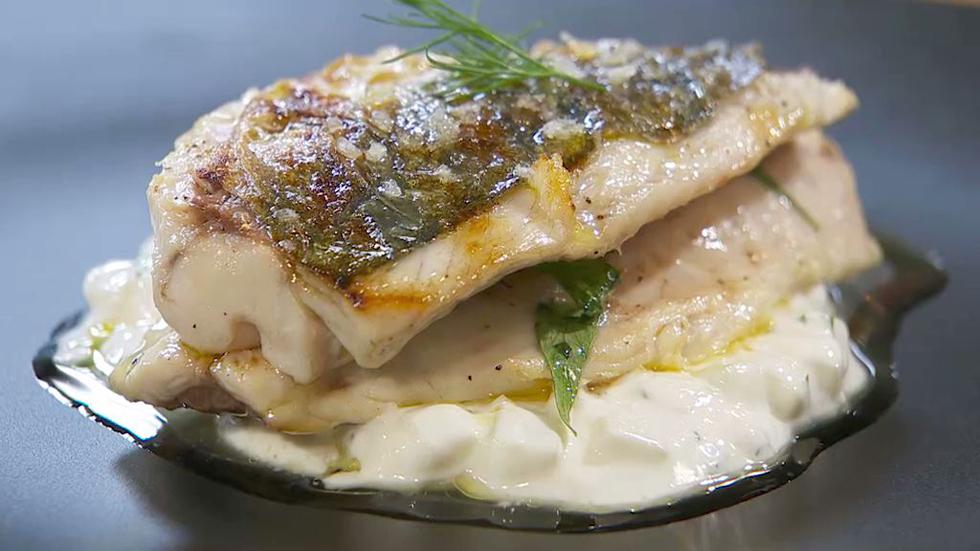 Torres en la cocina - Jurel a la brasa con salsa de yogur