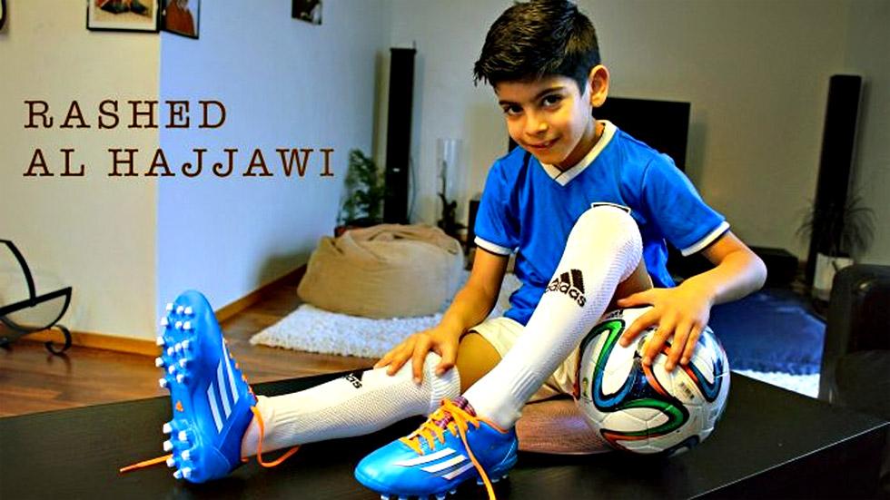 La Juventus ficha a Rashed Al-Hajjawi, un niño palestino de 10 años