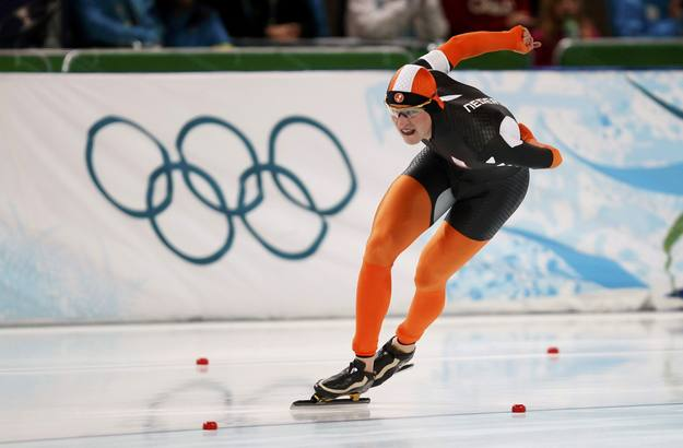 Kramer of the Netherlands competes in the men's 5000 meters speed skating race at the Richmond Olympic Oval during the Vancouver 2010 Winter Olympics