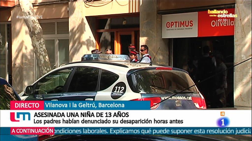 Laia, 13 años, asesinada en Vilanova i la Geltru