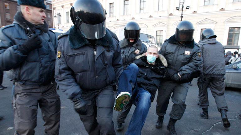 Liberados los detenidos en las protestas de Rusia