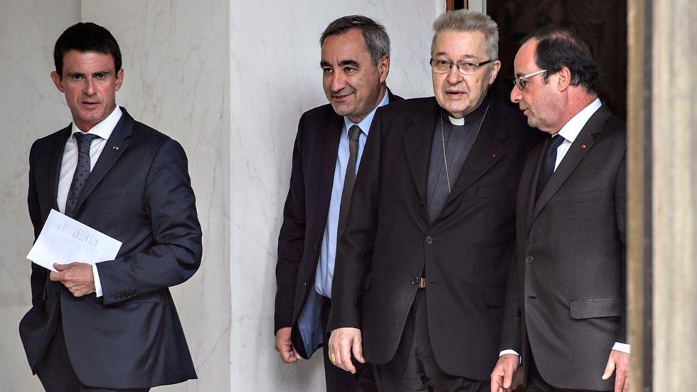 Los líderes religiosos franceses piden a Hollande más vigilancia en los lugares de culto tras el atentado en Normandía
