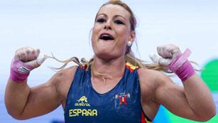 Lidia Valentín, campeona de Europa de halterofilia