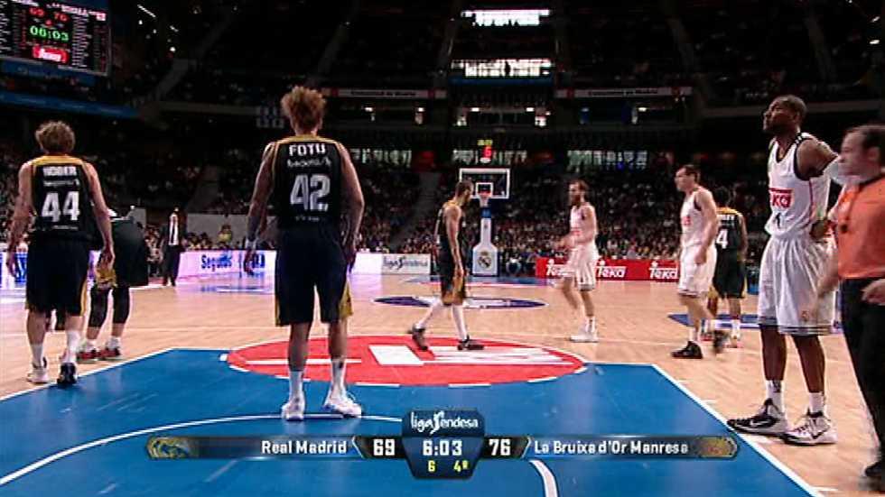 Baloncesto - Liga ACB. 34ª jornada: Real Madrid-La Bruixa d'Or Manresa