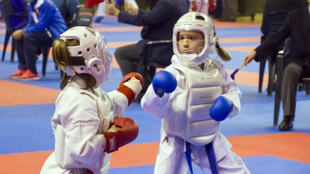 Liga Nacional masculina y Liga Iberdrola femenina de karate infantil. Torrelavega. 17 de febrero de 2018