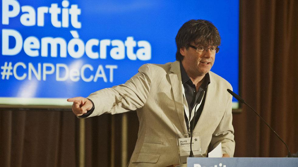 Llamamiento de Puigdemont y Artur Mas a la participación en el referéndum por la independencia