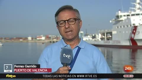 Llegada del barco Dattilo al puerto de Valencia