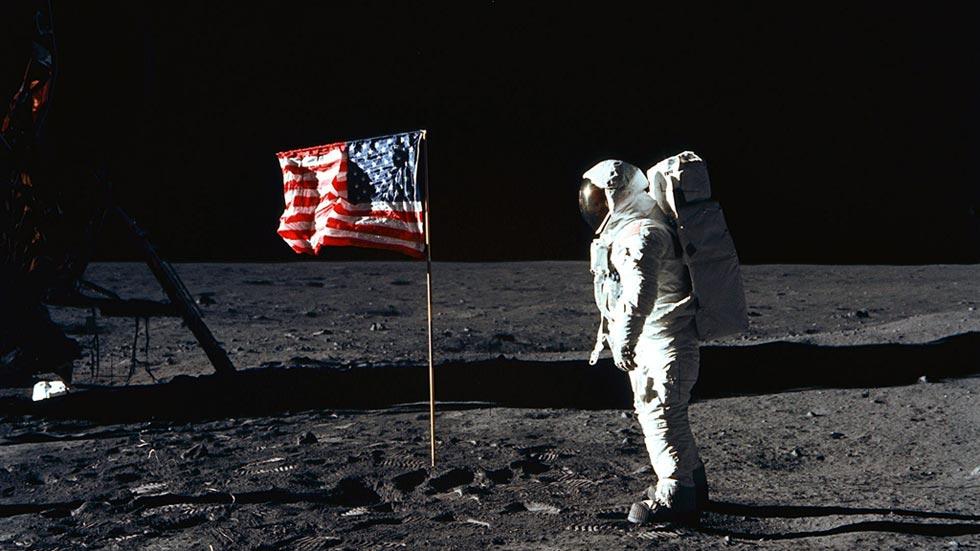 La llegada a la Luna, convertida en un corto viral