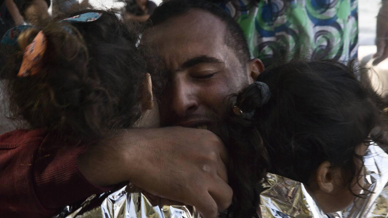 Llegadas de refugiados sirios, afganos e iraquíes a la isla griega de Lesbos, Grecia. Octubre 2015. Fuente: Médicos sin Fronteras.