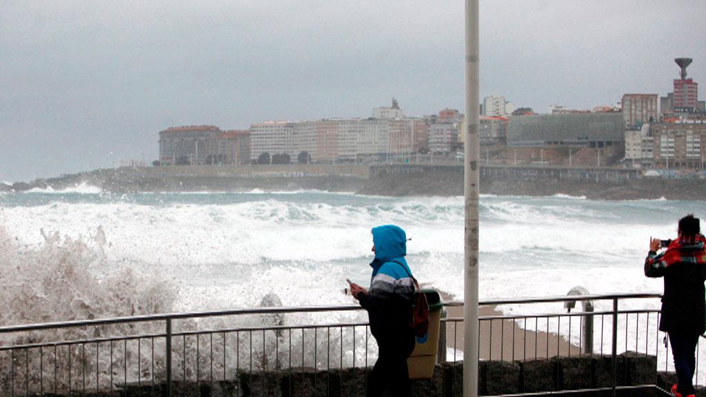 Lluvias fuertes en el Cantábrico y nieve en el centro y el norte