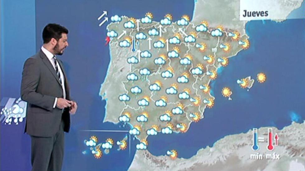 Lluvias en la mitad oeste peninsular y temperaturas suaves en las costas
