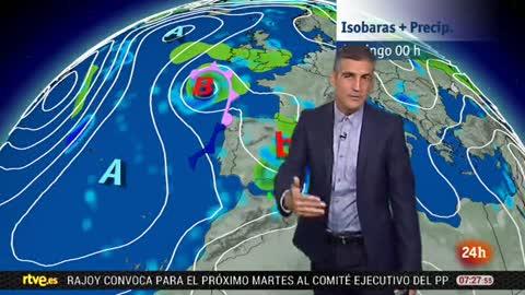 Lluvias en el norte, área mediterránea oriental y Baleares