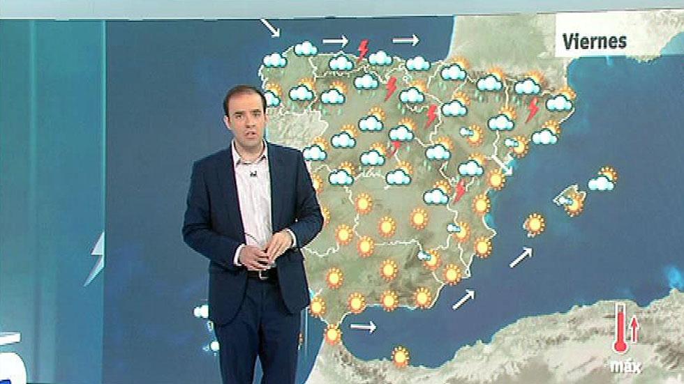 Lluvias en el norte peninsular con temperaturas en ascenso en el interior