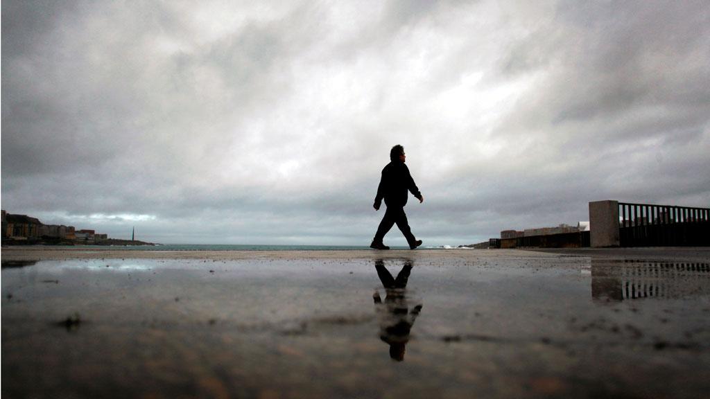 Lluvias persistentes y viento con rachas muy fuertes en el Cantábrico