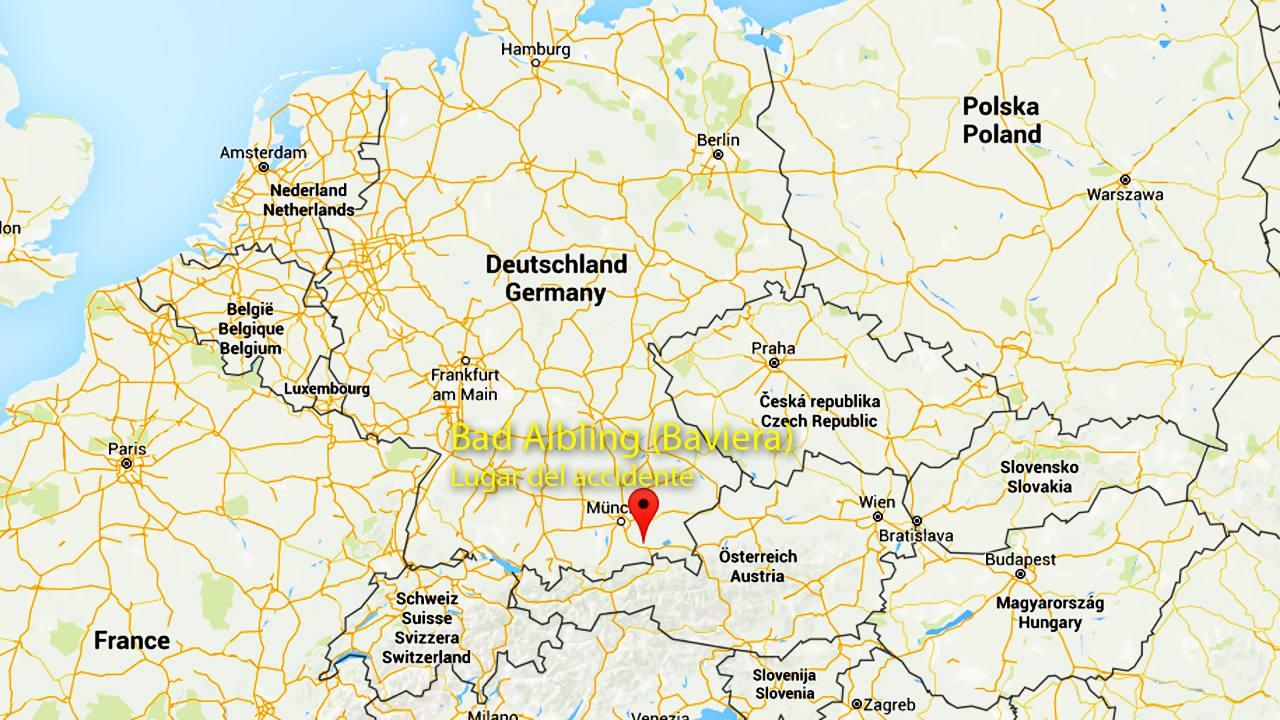 La localidad alemana de Bad Aibling en Baviera, lugar del accidente ferroviario este martes